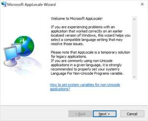 Microsoft AppLocale Screenshot