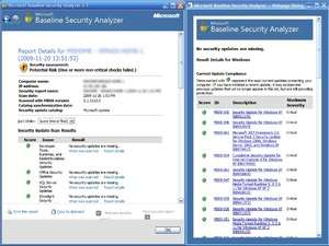 Microsoft Baseline Security Analyzer Screenshot