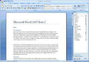 Microsoft Office 2007 Screenshot