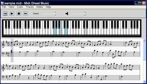 Musical Instrument Software - Screenshot for Midi Sheet Music