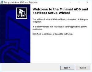 Minimal ADB and Fastboot Screenshot