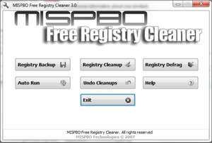 Registry Cleaners - Screenshot for MISPBO Free Registry Cleaner