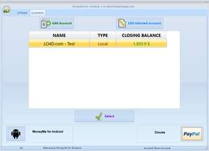 Accounting Software - Screenshot for MoneyMe