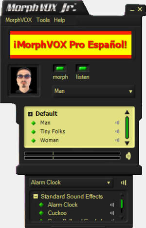 Instant Messaging - Screenshot for MorphVOX Junior