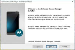 Motorola Device Manager Screenshot