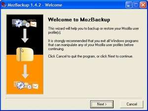 MozBackup Screenshot