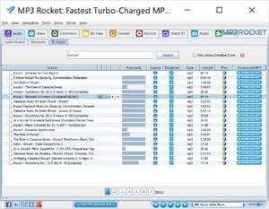 Filesharing - Screenshot for MP3 Rocket