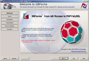 MS Access to PHP MySQL Screenshot
