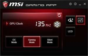 MSI Gaming App Screenshot