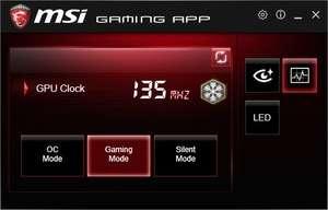 MSI Gaming App Screenshot