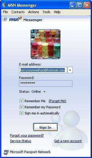 MSN Messenger 7.5 Screenshot