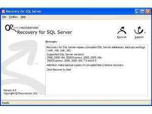 MSSQL Recovery Screenshot