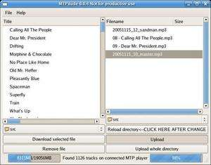 Media Transfer Protocol Porting Kit Screenshot