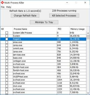 Process and Task Managers - Screenshot for Multi Process Killer