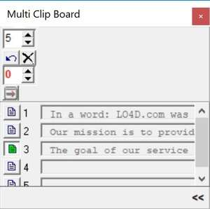 Clipboard Replacement Programs - Screenshot for MultiClipBoard