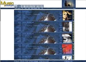 Music Catalogue Screenshot