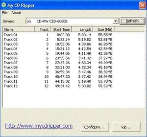 My CD Ripper Screenshot
