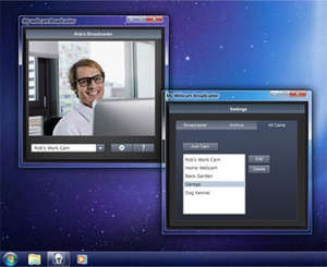 Webcam Software - Screenshot for My Webcam Broadcaster