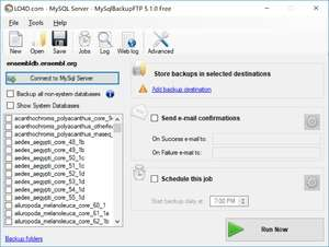 Database Tools - Screenshot for MySQLBackupFTP