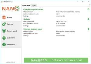 Antivirus Software - Screenshot for NANO Antivirus