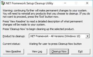 Additional Components - Screenshot for NET Framework Cleanup Tool