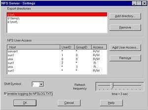 nfsAxe Windows NFS Client and NFS Server Screenshot