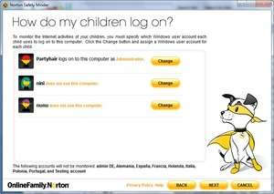 Windows Security and Privacy - Screenshot for Norton Online Family