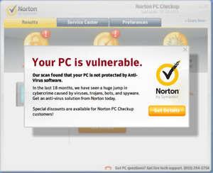 Norton PC Checkup Screenshot