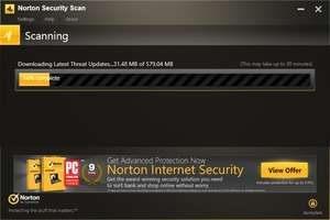 Norton Security Scan Screenshot