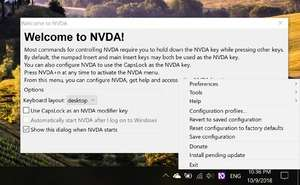 Text to Speech Programs - Screenshot for NVDA Portable