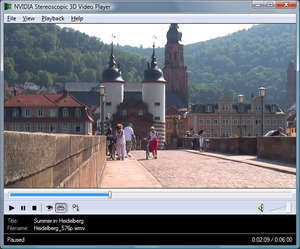 NVIDIA 3D Vision Video Player Screenshot