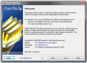 File Organizers - Screenshot for Object FIX ZIP