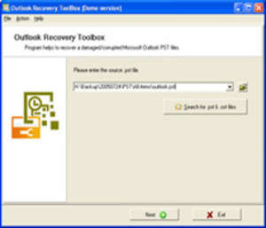 OE-Mail Recovery Screenshot