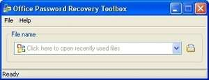 Office Password Recovery Toolbox Screenshot