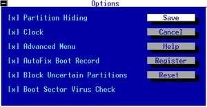 OSL2000 Boot Manager Screenshot