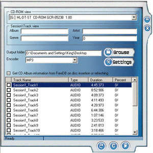 OSS CD Ripper and ID3V2 Tag Editor Screenshot