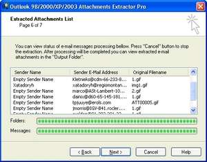 Outlook Attachments Extractor Pro Screenshot