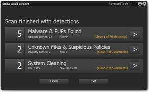 Antivirus Software - Screenshot for Panda Cloud Cleaner