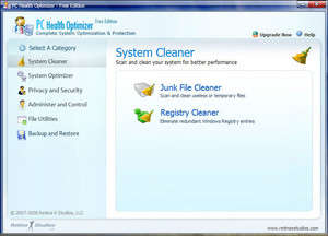 System Cleaners - Screenshot for PC Health Optimizer Free Edition