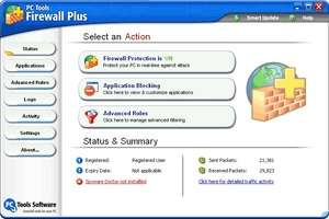 Firewalls - Screenshot for PC Tools Freeware Firewall