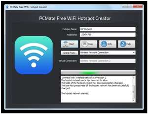 Download PCMate Free WiFi Hotspot Creator 8 8 1 (x64 & x32)