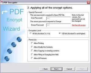 PDF Encrypt Tool Screenshot