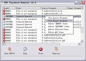 PDF Password Remover Screenshot
