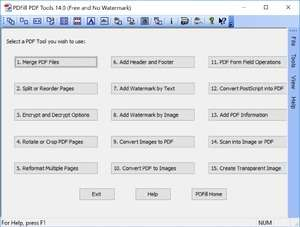 PDF Tools - Screenshot for PDFill PDF Tools