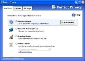 Perfect Privacy Screenshot