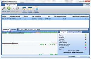 Hard Disk Defragmenters - Screenshot for PerfectDisk Free