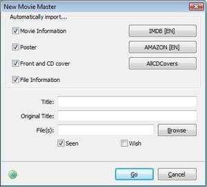 Personal Video Database Screenshot