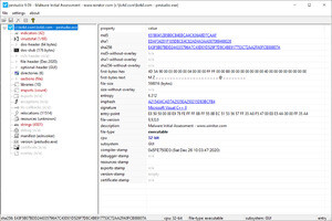 PeStudio Screenshot
