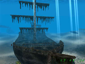 Pirate Ship 3D Screensaver Screenshot