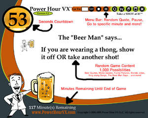 Power Hour VX Computer Drinking Game Screenshot